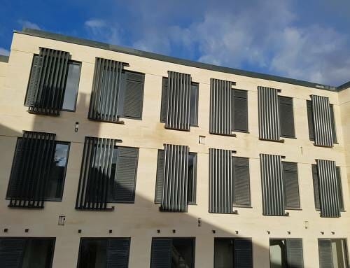Bespoke Vertical Solar Shading in Bath